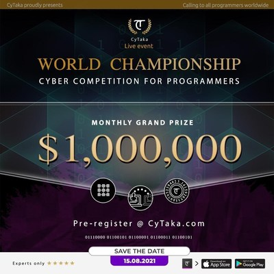 World champion Cyber competition for programmers $1,000,000 Monthly Grand Prize