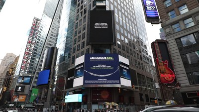 Concept Medical Lights Up NY Times Square to celebrate the enrollment of 1000 patients for ABILITY